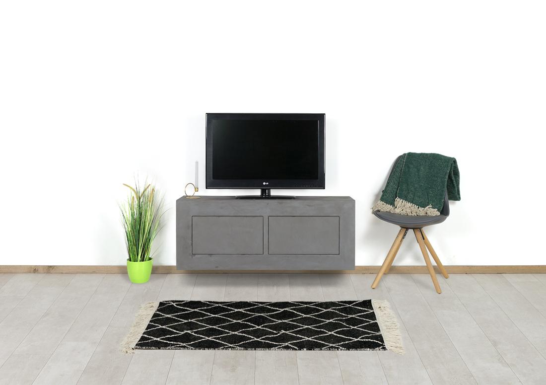 Betonlook TV meubel Barco met deuren