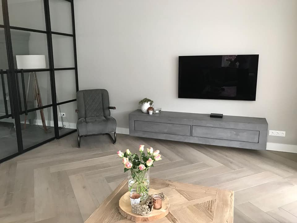 Betonlook TV meubel Jamul