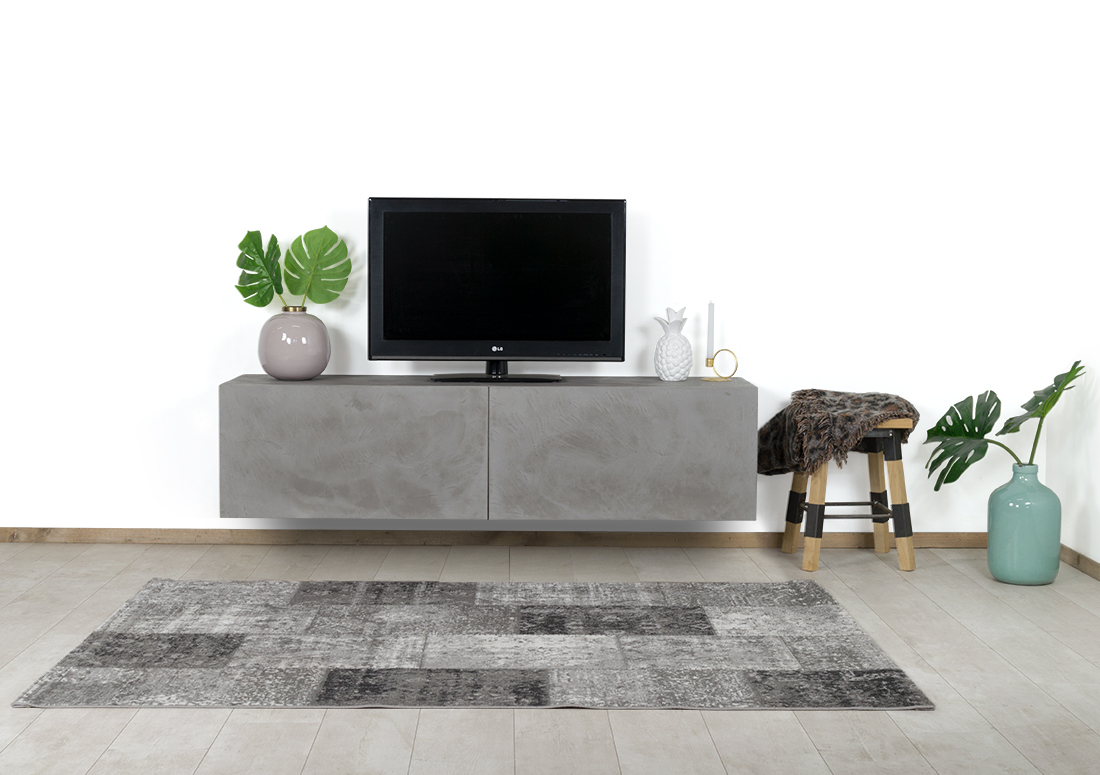 Betonlook TV meubel Laton met kleppen