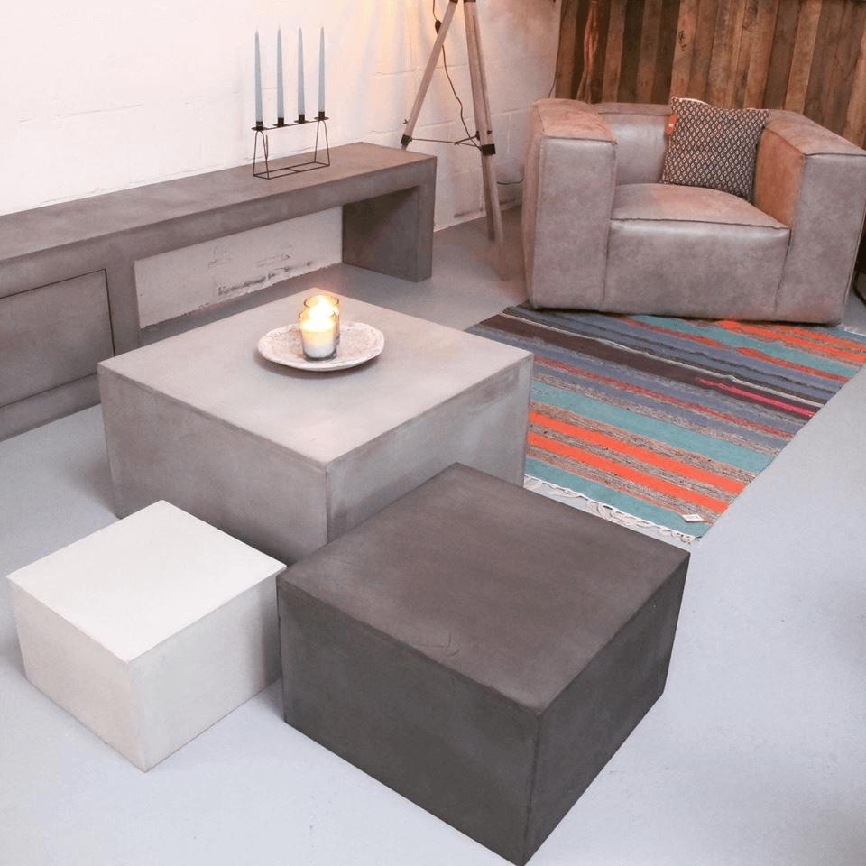 Betonlook salontafel Minoa