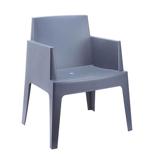 Box stoel donkergrijs