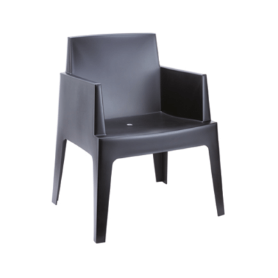 Box stoel zwart