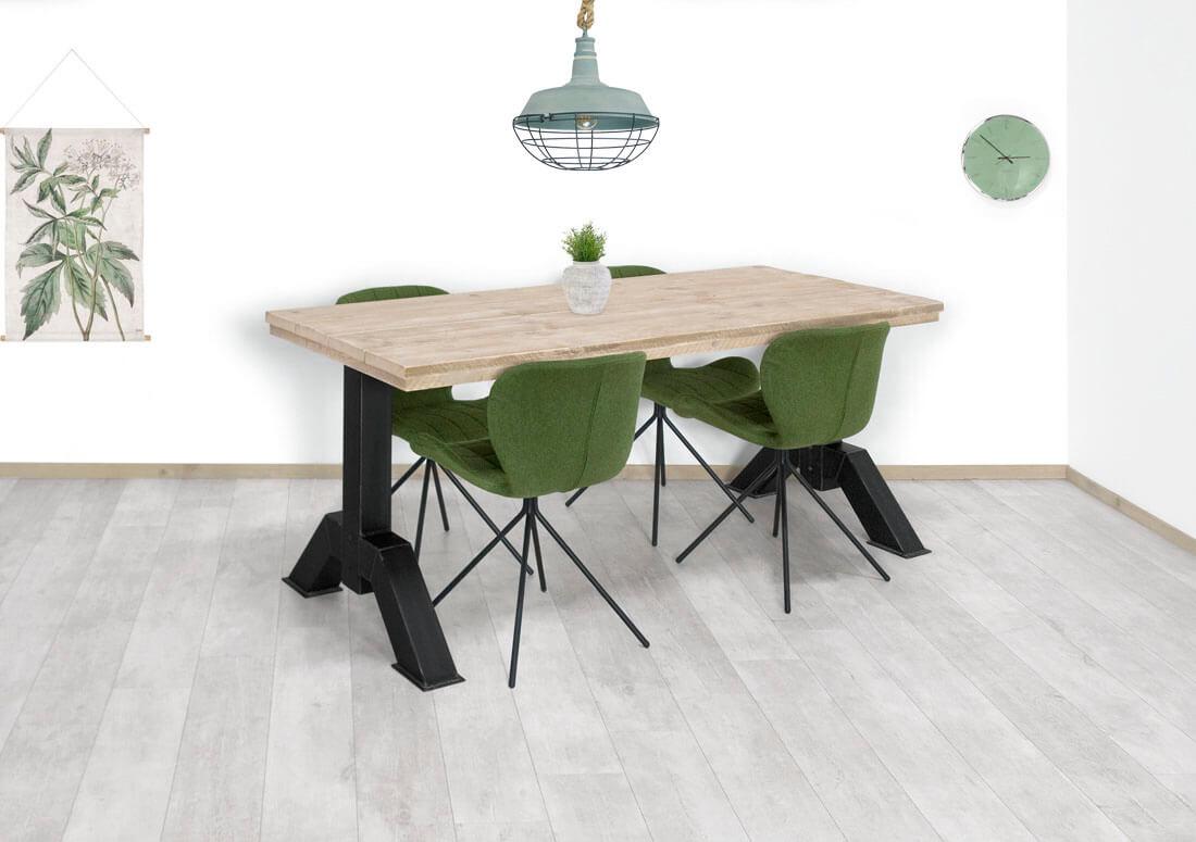 Steigerhouten tafel Tolna