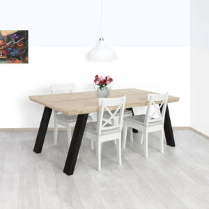 Steigerhouten tafel Welda