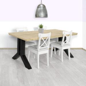 Steigerhouten tafel Filer