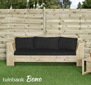 Steigerhouten Tuinbank Bono