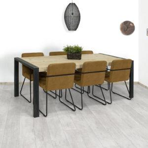 Steigerhouten tafel Anvik