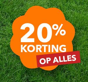 20% korting op alle steigerhouten meubelen