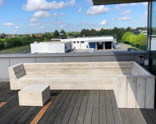 L-form loungebank steigerhout Adel