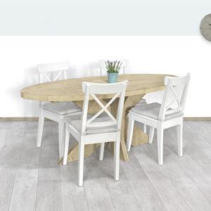 Steigerhouten tafel Muncy