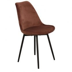 leaf chair velvet - roest / koper