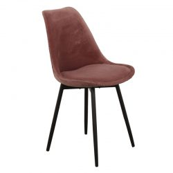 leaf chair velvet - roze