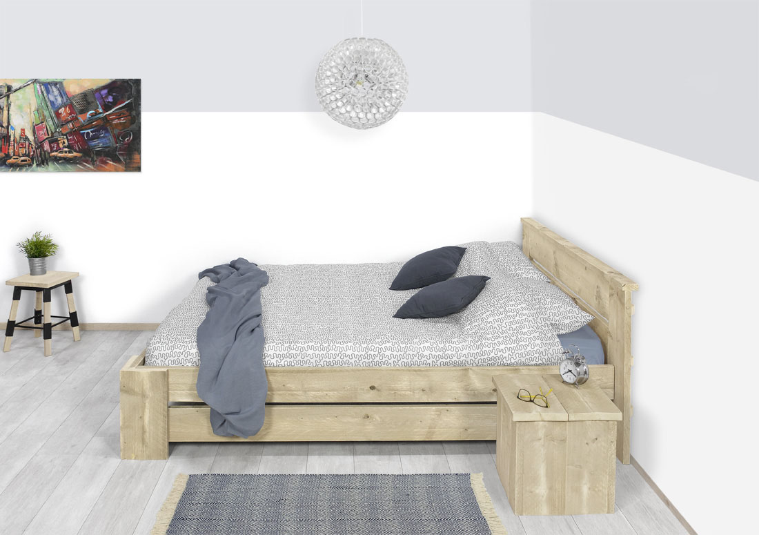 Steigerhouten bed Aledo