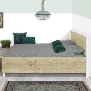 Steigerhouten bed Cozad