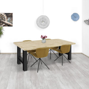 Steigerhouten tafel Fulda