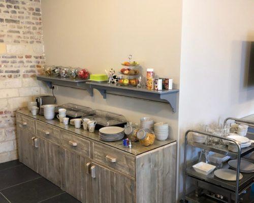 Keukeninrichting met steigerhout voor horeca