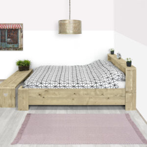 Steigerhouten bed Limon