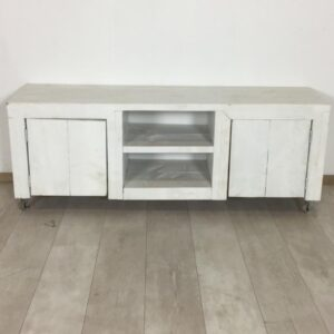 Steigerhouten TV meubel in RAL kleur 140 x 40 x 52 (OUTLET)