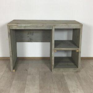 Steigerhouten bureau grey wash 150 x 60 x 79 (OUTLET)