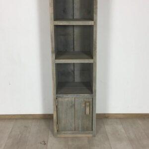 Steigerhouten kast grey wash 143 x 40 x 40 (OUTLET)