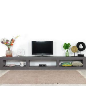 Betonlook TV meubel Catlin met open vakken