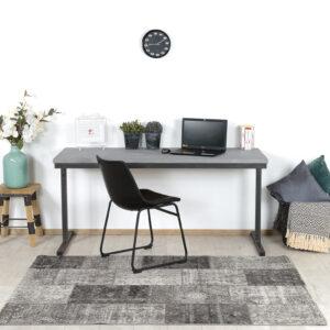 Industrieel bureau Bonita met betonlook blad