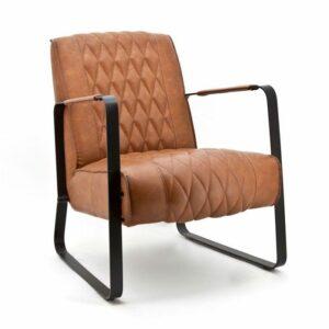 Eleonora fauteuil Caro - Cognac