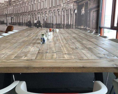 Steigerhouten tafel blad met verstekrand