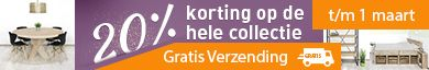 20% korting op Alle meubels & Gratis verzending