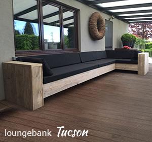 Loungebank van steigerhout Tucson