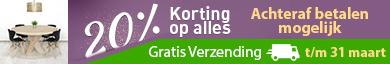 20% korting en Gratis Verzending op Steigerhouttrend