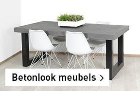 Betonlook industriele meubels