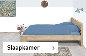 Meubelen van steigerhout voor slaapkamer