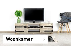 Meubelen voor woonkamer: steigerhouten, eikenhouten, industriele & betonlook