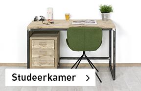 Studeerkamer industriele meubels