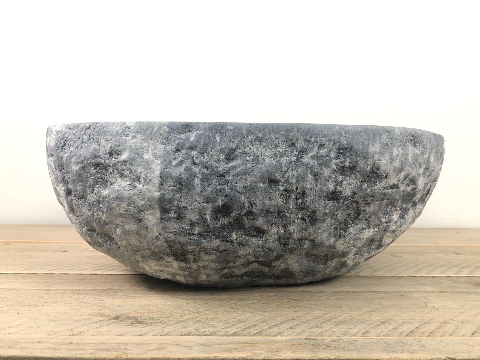 Natuursteen waskom | W056 | 40 x 35,5 x 15 cm
