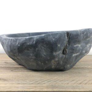 Ovale natuursteen waskom | W060 | 40,5 x 36 x 13 cm