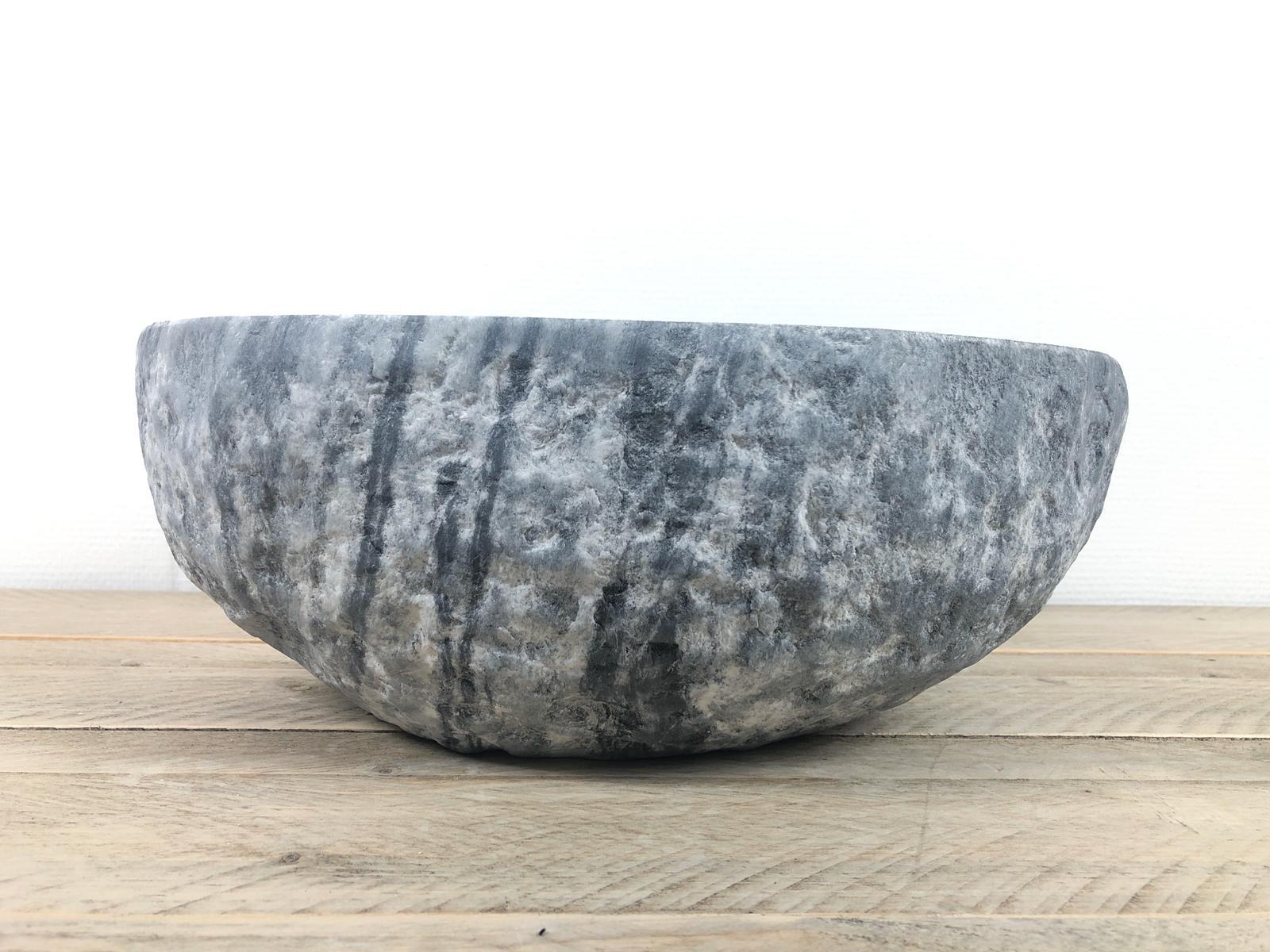 Natuursteen waskom | W083 | 40,5 x 37 x 14,5 cm