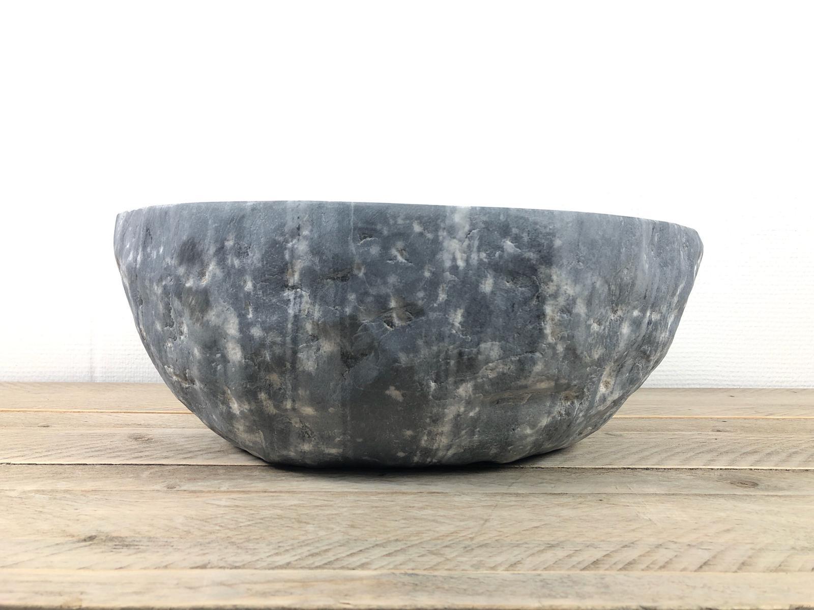 Natuursteen waskom | W088 | 40,5 x 35 x 15,5 cm