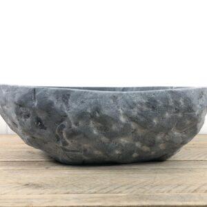 Ovaal natuursteen waskom | W095 | 40,5 x 35,5 x 12,5 cm