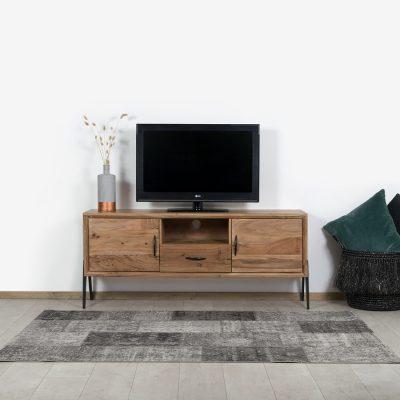 Acaciahout TV meubel Bantry met industriele pootjes