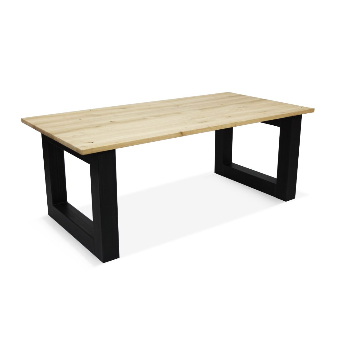 Eikenhouten tafel Zwolle met robuuste O poten