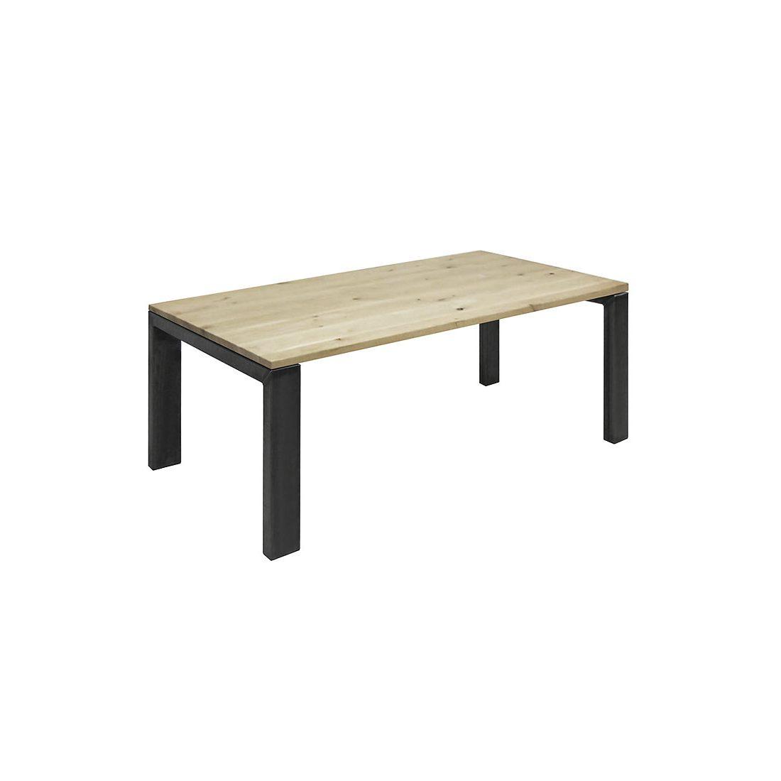 Eikenhouten tafel Veneta met N poten