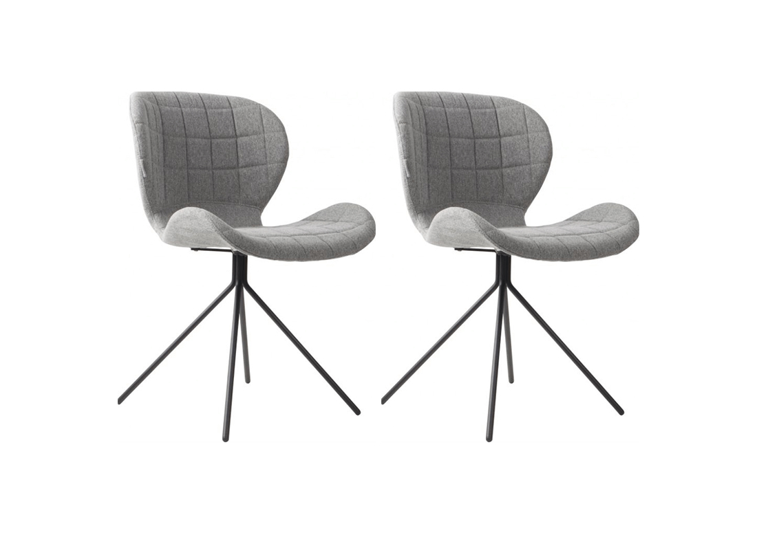 Lichtgrijs Zuiver OMG stoelen