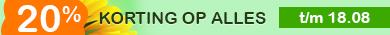 20% Korting Augustus