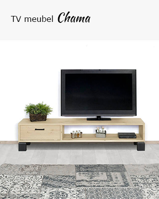Eikenhouten TV meubel Chama