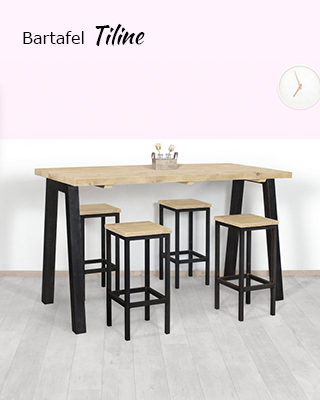 Steigerhouten bartafel Tiline