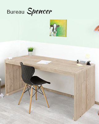 Steigerhouten bureau Spencer