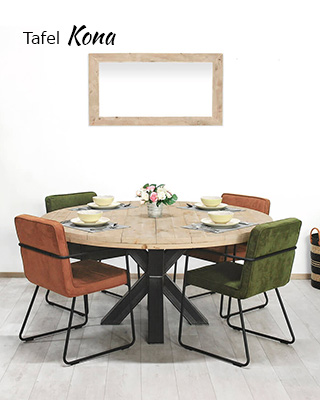 Steigerhouten tafel Kona