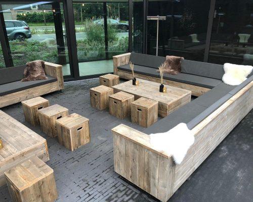 Meubelen voor van steigerhout voor hotelterras